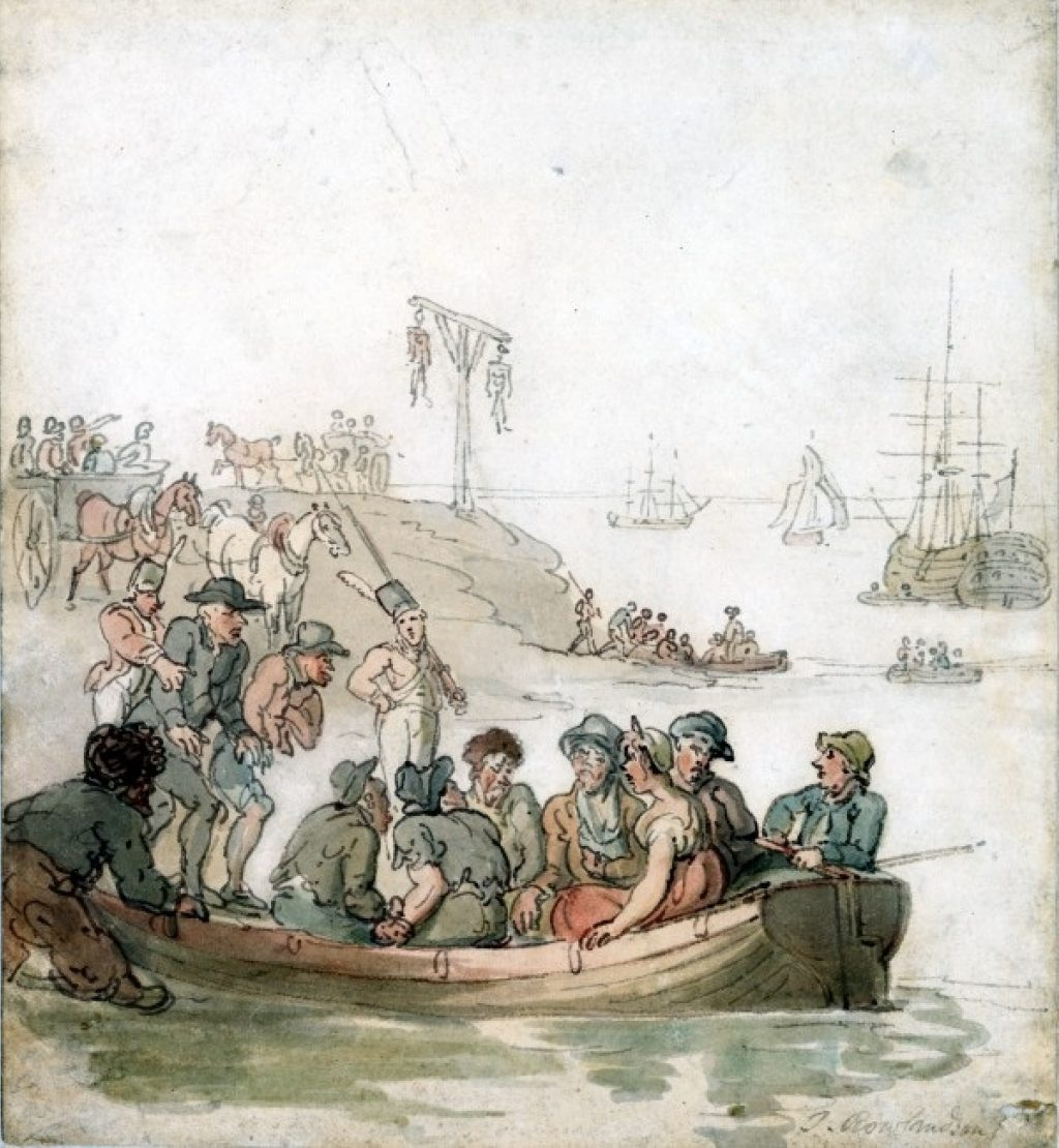 Halesworth Thomas Rowlandson Convicts Embarking Low Res
